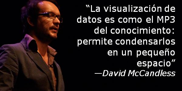 """""""La visualización de datos es como el MP3 del conocimiento: permite condensarlos en un pequeño espacio"""" - David McCandless"""