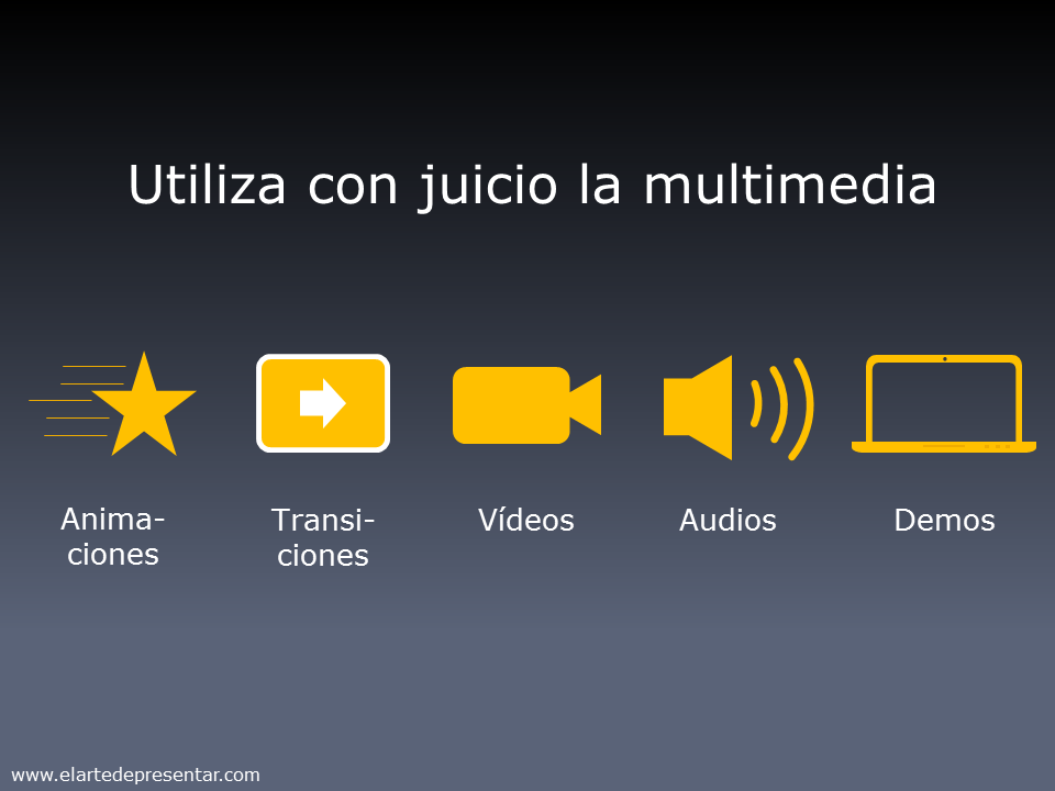 Utiliza con juicio la multimedia