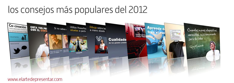Los consejos más populares sobre presentaciones del 2012