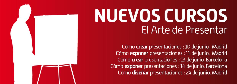 Nuevos cursos de presentaciones en Madrid y Barcelona