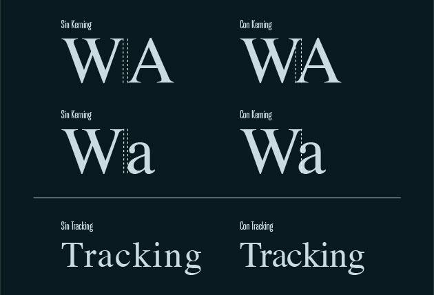 Diferencia entre el tracking y el kerning