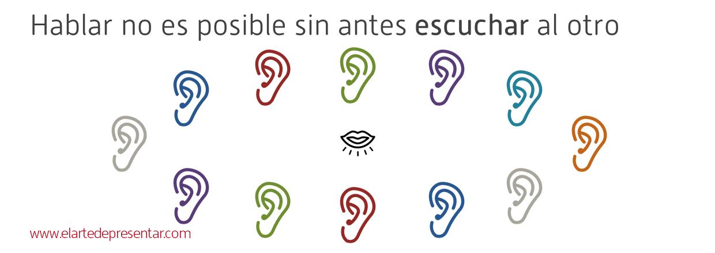 Hablar es imposible sin antes escuchar al otro (Todos los iconos han sido descargados desde http://thenounproject.com/)