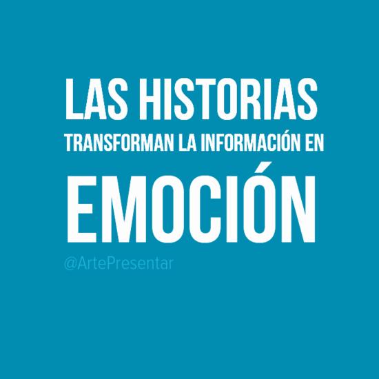 Las historias transforman la información en emoción
