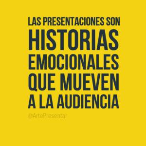 Las presentaciones son historias