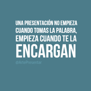 Una presentación no empieza