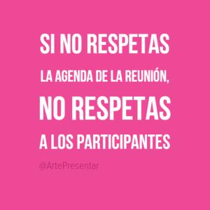 Si no respetas la agenda...