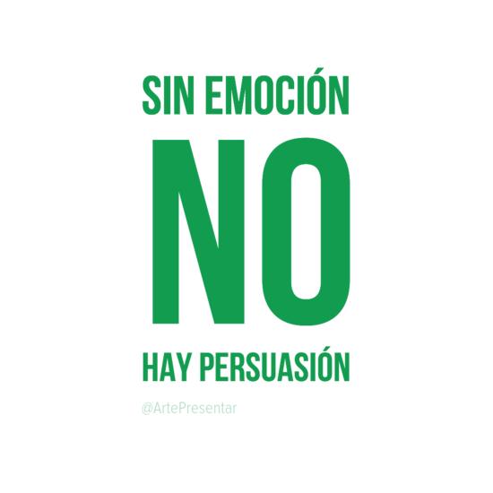 Sin emoción no hay persuasión