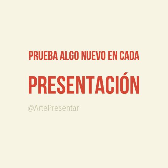 #citas Prueba algo nuevo en cada presentación
