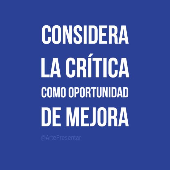 #citas Considera la crítica como oportunidad de mejora