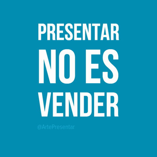 #citas Presentar no es vender