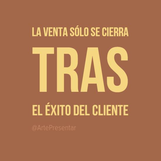 #citas La venta sólo se cierra tras el éxito del cliente