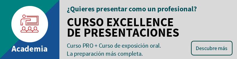 Curso Excellence de presentaciones