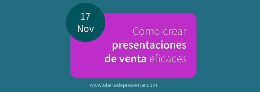¡NUEVO! Curso de Presentaciones de Venta. Las claves del éxito comercial