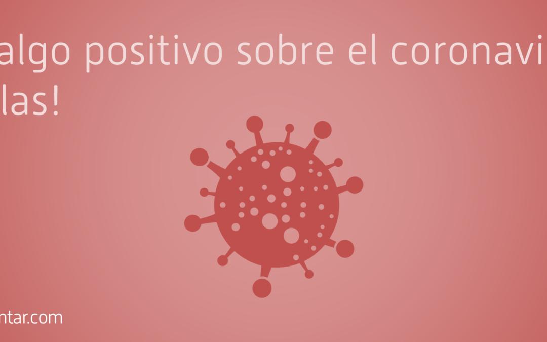 O dices algo positivo sobre el coronavirus o te callas, que para sobreinformar y desinformar creando alarma social ya están los medios tradicionales